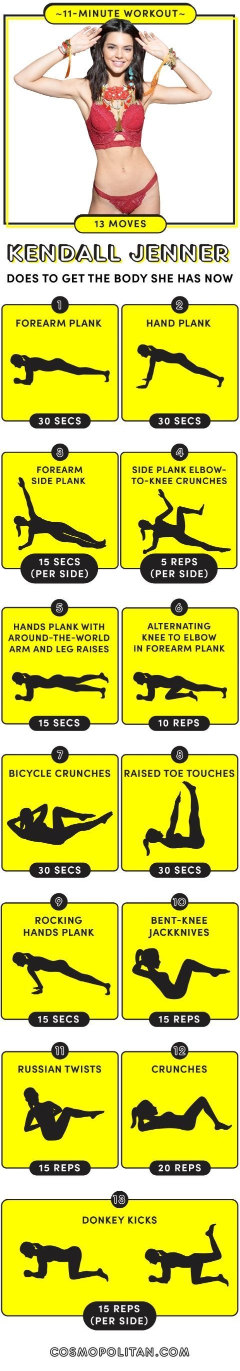 Not the biggest fan of the Jenners...BUT this is a good ab workout. Do 3-4 times through plus 20 minutes of cardio.