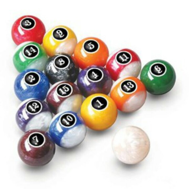 Pearled Pool Balls Man Cave Worthy In 2019 Pool Table