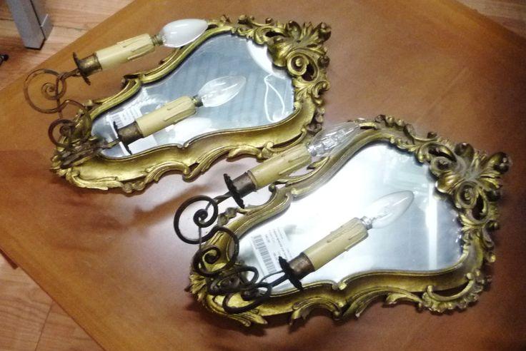 coppia appliques con specchio Usato a Milano | InAndOut