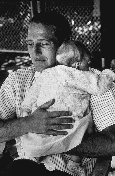 Paul Newman with his daughter