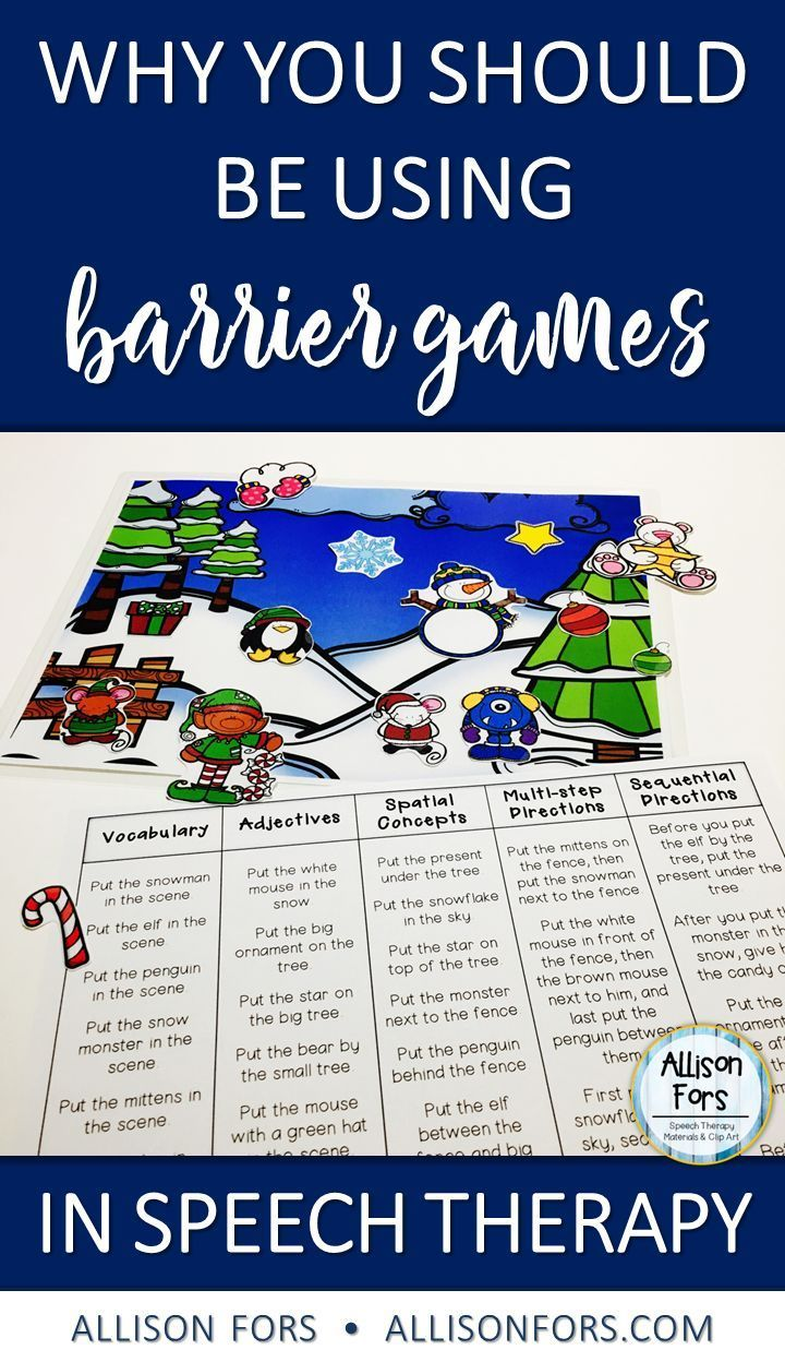 Why you should be using barrier games in speech therapy to teach language!