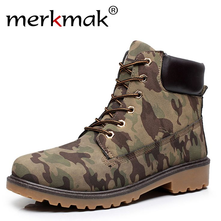 Super Fashion Men Autumn Winter Leather Boots Man Outdoor Waterproof Rubber Snow Boots Leisure Martin Boots Retro Shoes For Mens