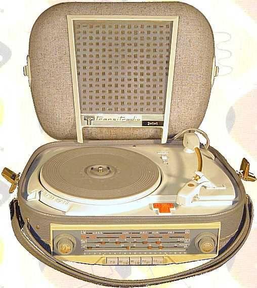 Teppaz radio record player