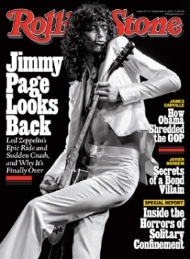 Jimmy Page looks back in the latest issue of #RollingStone Magazine - Dec 2012 (Courtesy of RollingStone.com)