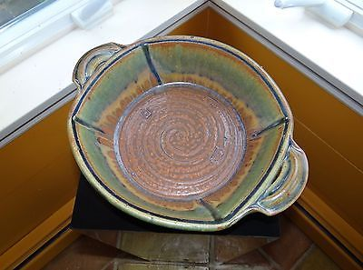 DAVID VOLL / LARGE BOWL with HANDLES