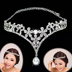 Women's Rhinestone Alloy Headpiece-Wedding Special Occasion Tiaras Headbands 1 Piece