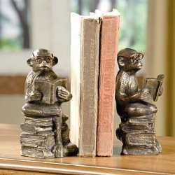 Reading Monkey Bookends Pair.