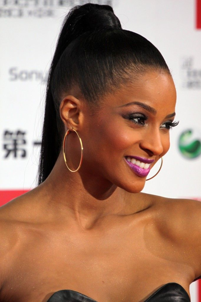 afriacan american pony tails | Trends Hairstyles: Long Straight Ponytails Hairstyle