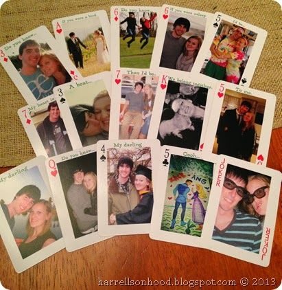 first wedding anniversary traditional gift ideas, paper gift for 1st anniversary, playing cards personalized with photos