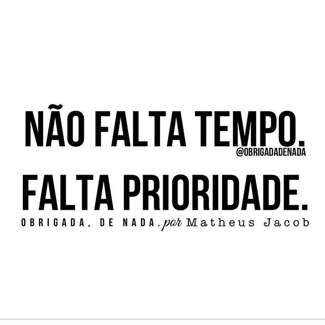 #tempo #prioridade