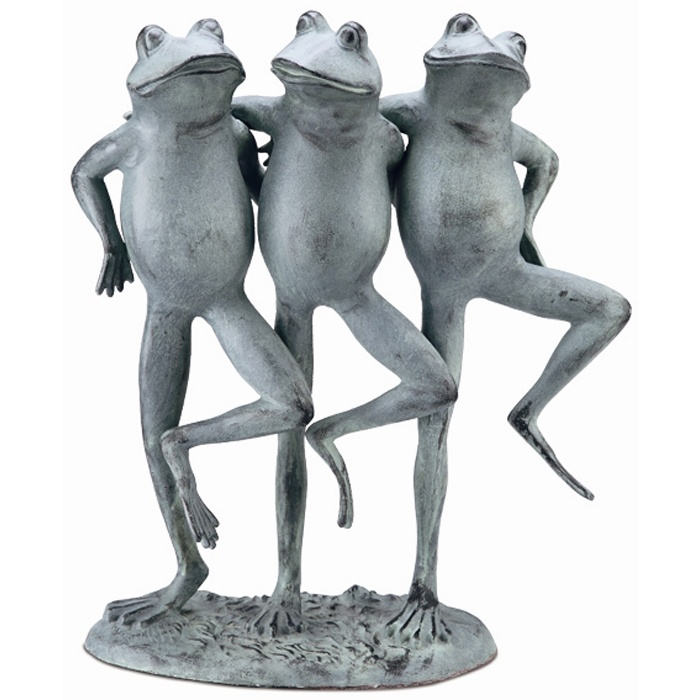 Dancing Frogs Garden Statue