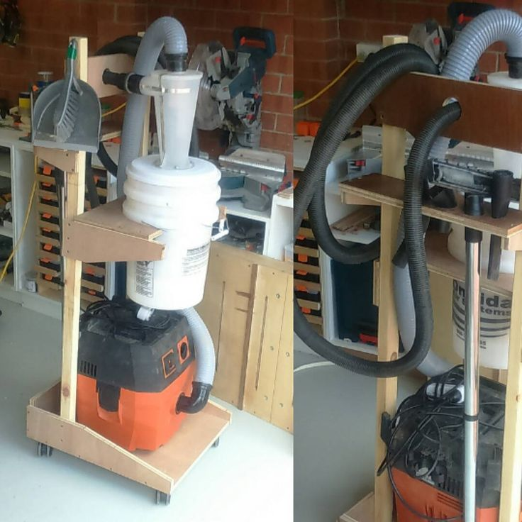 """""""Finished the shopvac/cyclone cart. Good plans, messed it"""