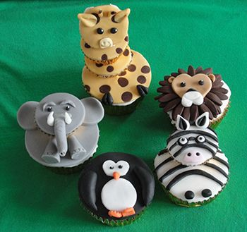 Cupcake Decorating Ideas Animals : 198 best Cake Decorating - Cute Cup Animal Faces images on ...