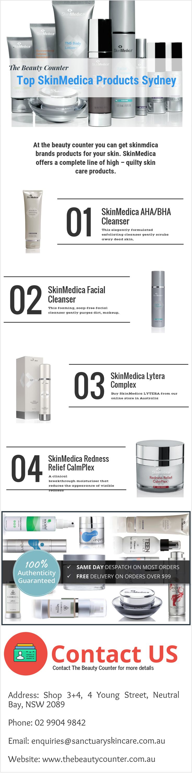 The #Beauty counter offers a complete range of high quality #skinmedica products in #Sydney. You can place your order through our website thebeautycounter.com.au. #infographics