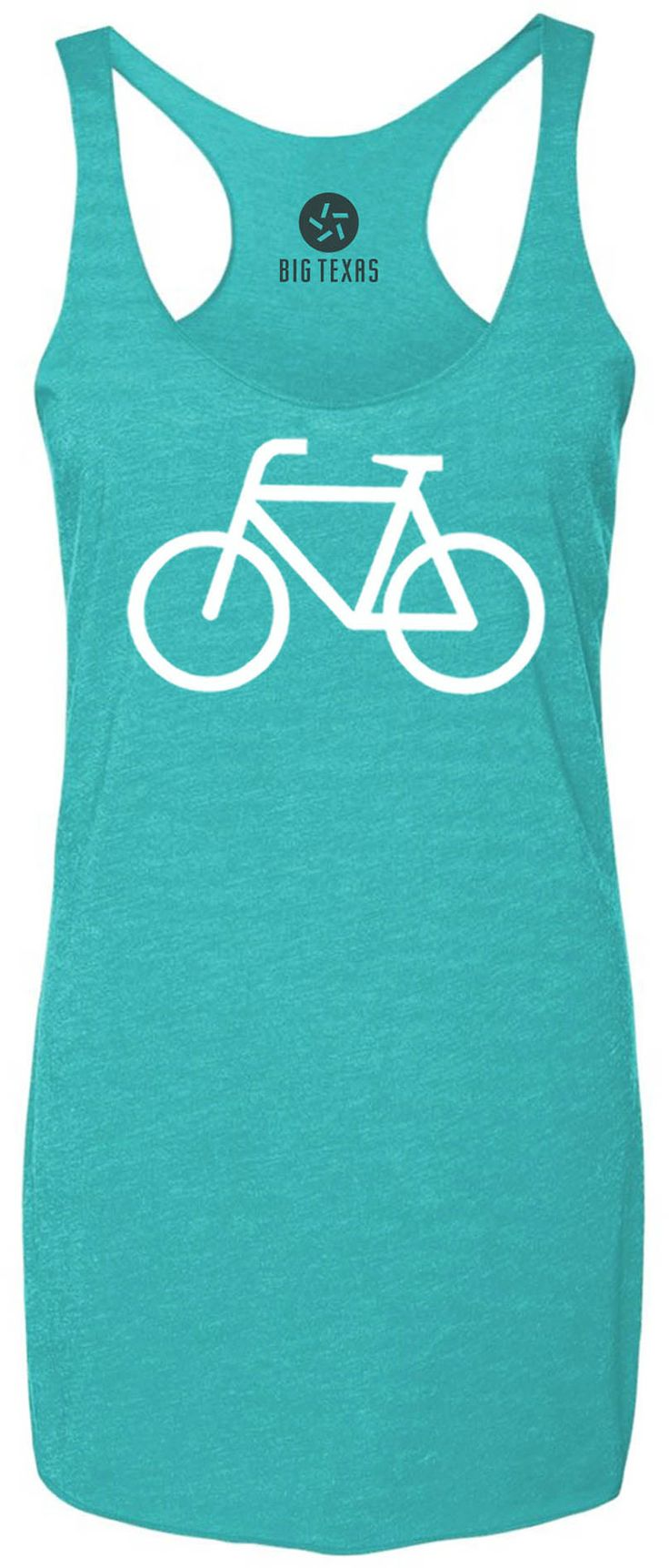 Bicycle (White) Tri-Blend Racerback Tank-Top