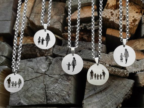 Family Necklace Family Jewelry Stainless Steel by DreamcJewelry