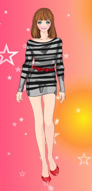Online dress-up games - With a touch of red