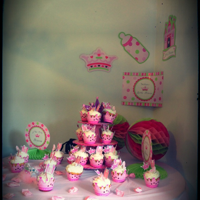 Welcome Home Baby Party Decorations: Baby Welcome Home Party Cupcake