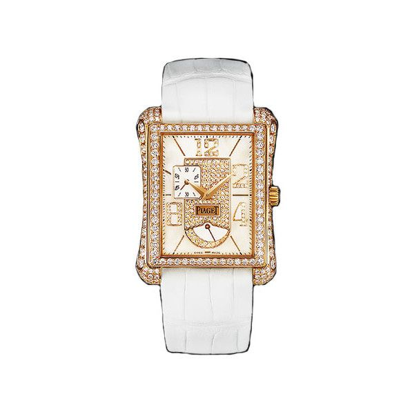 Piaget Black Tie Emperador Watch (96.270 BRL) ❤ liked on Polyvore featuring jewelry, watches, diamond bezel watches, 18k jewelry, tie jewelry, piaget and piaget jewelry