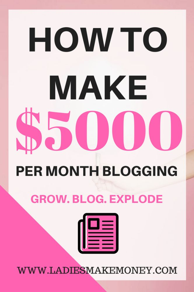 How to make $5000 per month blogging with your blog. Passive income. How to make money with your blog. Blog income report. Make money online. Affiliate marketing. Increase your affiliate sales. Blogging tips to making money online!