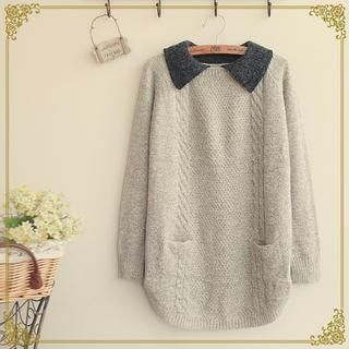 Buy 'Fairyland – Contrast Collar Sweater' with Free International Shipping at YesStyle.com. Browse and shop for thousands of Asian fashion items from China and more!