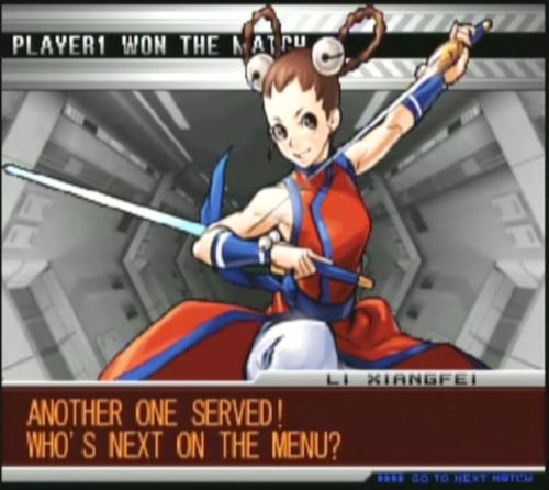 bison2winquote:- Li Xiangfei, The King of Fighters 2002: Unlimited Match (SNK-Playmore)
