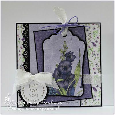 Crafting with Cotnob, Crafter's Companion, Craftwork Cards, Craftwork Cards Ultra Violet Flora, Fiskars, Floral, Spellbinders