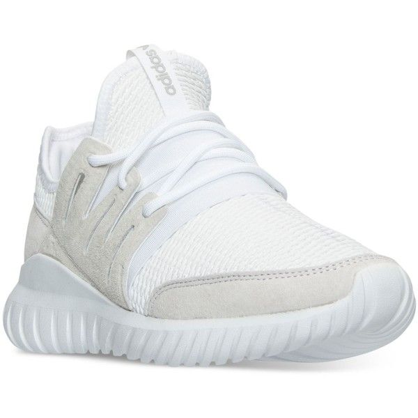 adidas Men's Originals Tubular Radial Casual Sneakers from Finish Line ($88) ❤ liked on Polyvore featuring men's fashion, men's shoes, men's sneakers, white, adidas mens shoes, mens sneakers, mens shoes and adidas mens sneakers