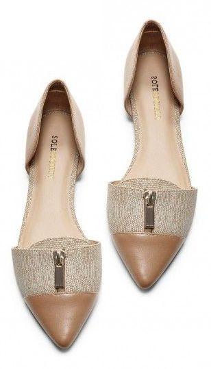 Dressy Zipper Flats