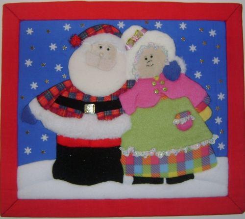 Cuadros navideños en patchwork sin aguja - Imagui