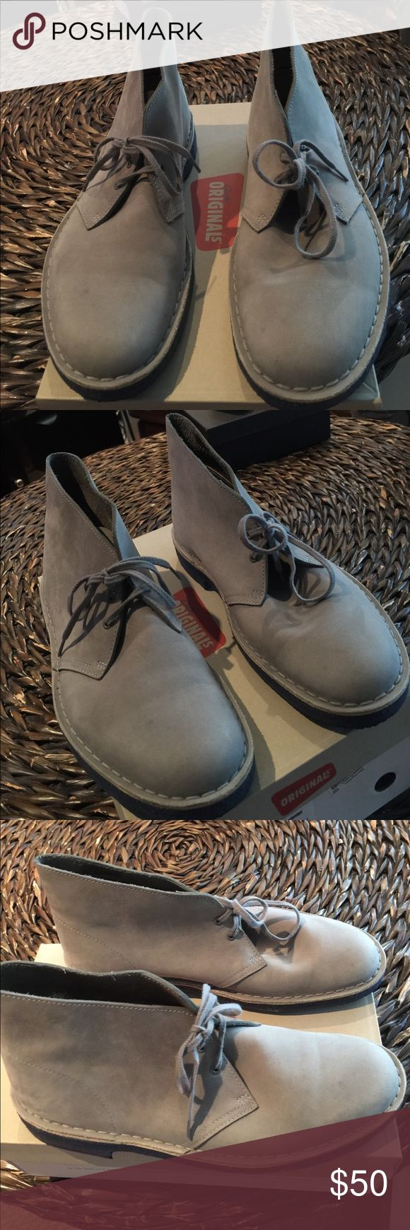 Men Chukka Boots Grey Suede Desert Boots, very good condition Clarks ORIGINALS Shoes Chukka Boots