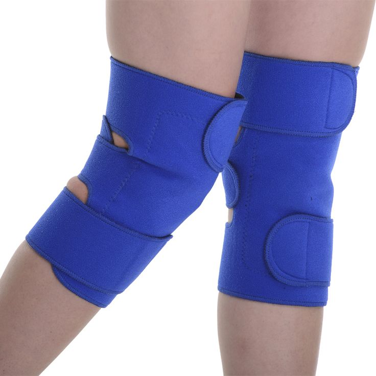 2pieces Tourmaline Self-heating Magnetic Therapy Knee Pads Knee Support Brace Protector Sleeve Patella Guard Posture Corrector