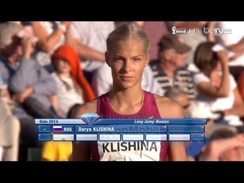 Darya Klishina Дарья Клишина 2014 8v Diamond League Oslo June 11th