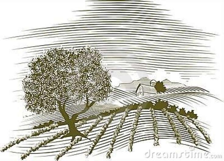 Download Woodcut места фермы Стоковые Фотографии RF - изображение: 15515928