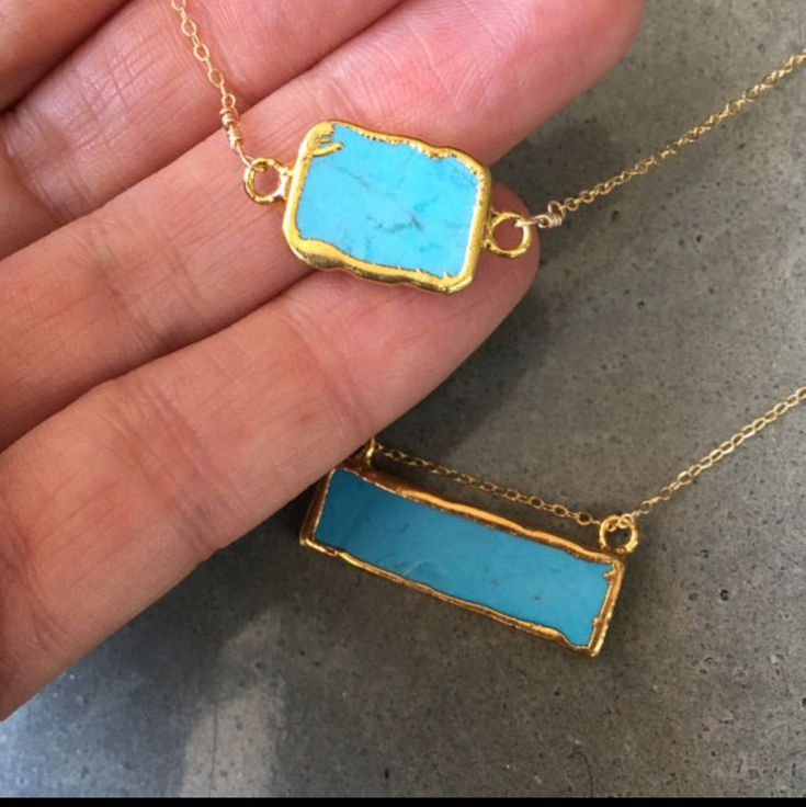 Turquoise Howlite necklaces