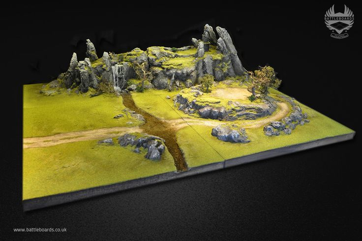 Rocky terrain boards with the other extension Battleboards we made, these go with a set of x6 boards we made last year.