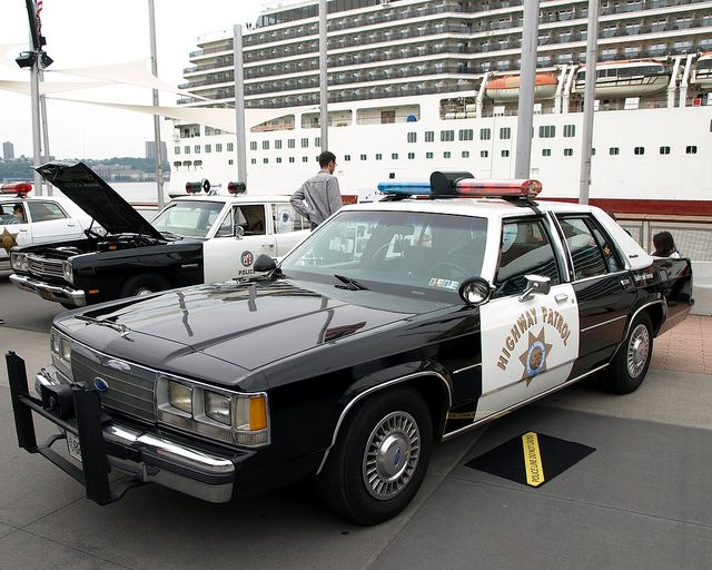 Vintage Ford LTD Crown Victoria California Highway Patrol Police Car