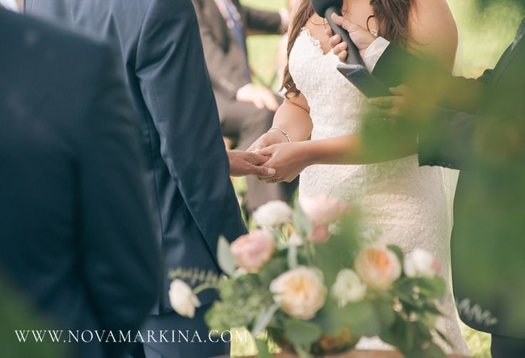 Pledging their Lives to One Another || Wedding Ceremony Photography || NovaMarkina Photography || See more of this London, Ontario Wedding here:  http://www.novamarkina.com/blog/london-ontario-rustic-chic-wedding-sd