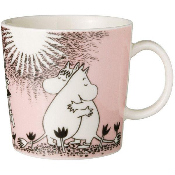 Iittala Moomin Mug - Love ($25) ❤ liked on Polyvore featuring home, kitchen & dining, drinkware, fillers, mugs, pink, iittala mug, ceramic mug, iittala and pink mug