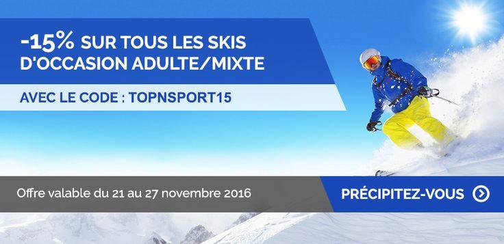 Skis d'occasion pas cher : Topnsport.com : La meilleure piste !