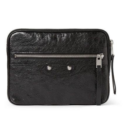 #Balenciaga Textured-Leather iPad Mini Case