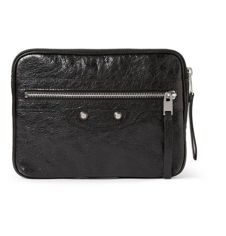 #Balenciaga Textured-Leather iPad Mini Case