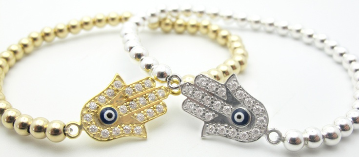 Martha Calvo - Joolz - Hamsa Bead BraceletHamsa Khamsa, Eye Spy, Style, Hamsa Beads, Products, Evil Eye, Eye Stuff, Amazing Jewelry