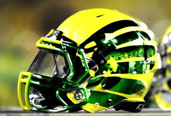 2013 Oregon Ducks football helmets