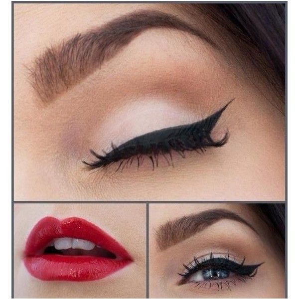 Pinup 50s makeup Make up ❤ liked on Polyvore featuring beauty products, makeup, eyes, lips, beauty, eye makeup, pin up cosmetics, pinup makeup, pin up makeup and lips makeup
