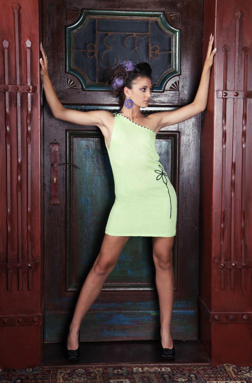 one shoulder (cocktail) dress #knitted #summerdress #oneshoulder