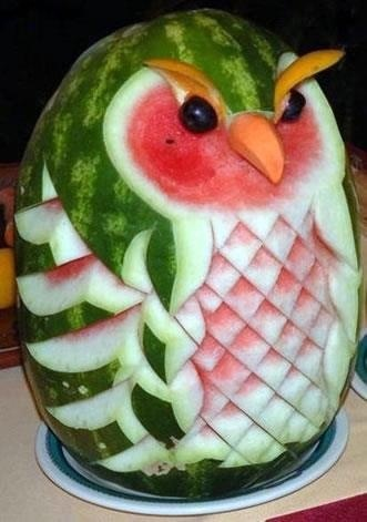 Watermelon owl.  Artful, and then some!