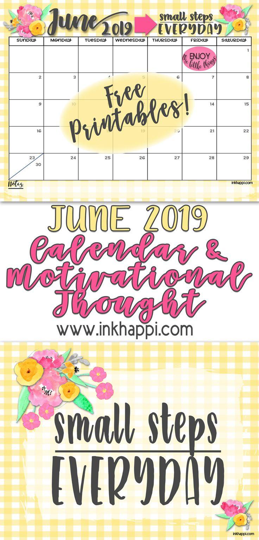 june 2019 calendar and  u0026quot small steps everyday u0026quot