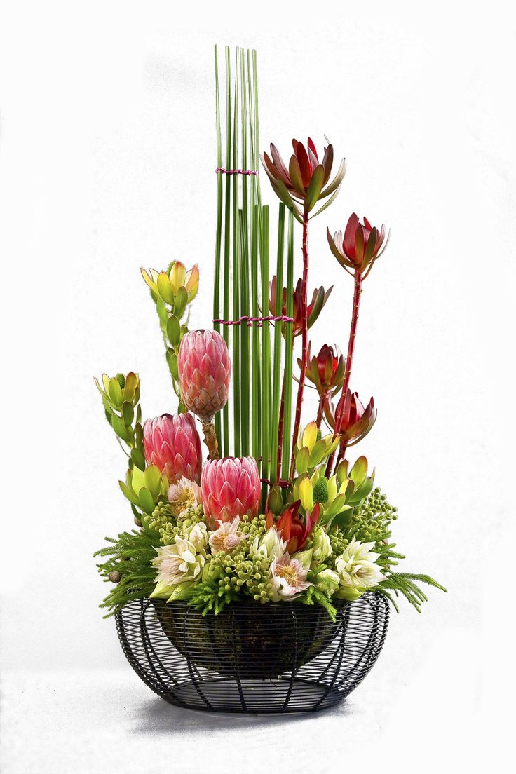 Contemporary floral arrangement - we often create pieces like this for  contracts