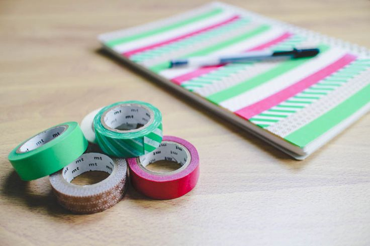 ink + adventure: DIY washi tape notebook